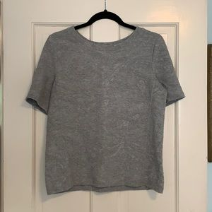 Loft Embossed Short Sleeve Sweatshirt - Medium